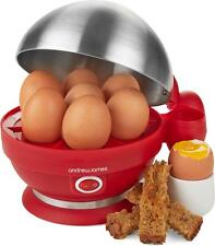 Andrew James Electric Egg Boiler In Red with Poacher and Steamer Attachments
