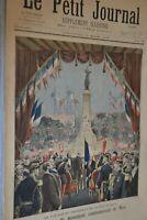 Le Petit journal Supplément illustré 15 Mars 1896 / Inauguration à Nice