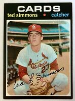 1971 TOPPS #117 TED SIMMONS ROOKIE HOF St. Louis Cardinals VERY SHARP ⚾️💥⚾️