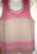 Ärmellose Damen-Pullover & -Strickware ohne Verschluss mit geometrischem Muster