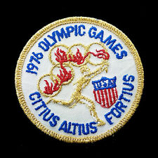 "Nos 1976 Olympic Games 3"" Embroidered Patch Usa Citius Altius Fortius"
