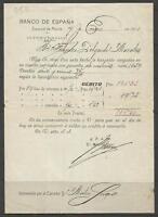 Q50-DOCUMENTO BANCO ESPAÑA 1911   EN MURCIA,FEDERICO DELGADO MORALES,CEHEGIN