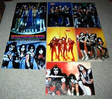 KISS 7pc Magazine Centerfold Poster Lot 1998 - 2001 Ace Frehley Gene Simmons