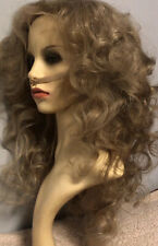 Ash Blonde Lace Front Wig 22 Inches Long Curly Brazilian Human Hair