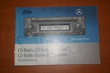 Mercedes-Benz CD/Radio/Bluetooth Manual/Book