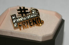 Juicy Couture #1 Friend Gold Toned Rhinestone Embellished Charm #YJRUSC08 NIB **