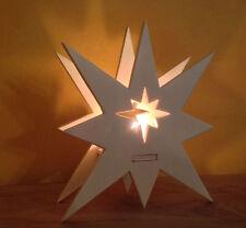 Kaleas Laubsägevorlage  Weihnachtsstern Holzstern WeihnachtssternTeelichthalter