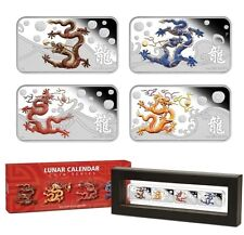 2012 Lunar Year of Dragon 1oz Silver Rectangle Coin Collection - Perth Mint