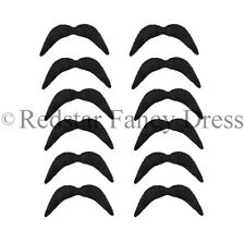 x 12 Noir mexicain Tash motard années 70 Movember 118 Déguisement moustache