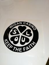 Wigan Casino ,car decal/ sticker for windows, bumpers , panels, and laptops