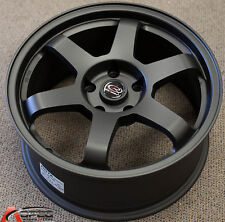 ROTA GRID 17X8 +35 FULL BLACK 5X100 WHEEL FIT TOYOTA CELICA GT COROLLA JDM FR-S