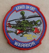 """2000'S ARMY AVIATION """"ARMED OH-580 WARRIOR MAKE MY DAY"""" MERROWED EDGE"""