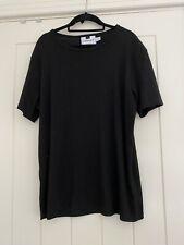 Mens Black Ribbed Topman T Shirt Medium
