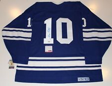 George Armstrong Signed Toronto Maple Leafs 1967 Vintage Jersey Psa/Dna Coa