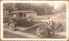 1933 Pontiac Two Door Sedan Infant Baby in Back Seat First Family Car 1947 Photo