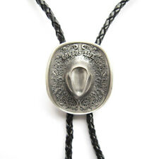 Silver Plated Cowboy Boots Cap Western Bolo Tie