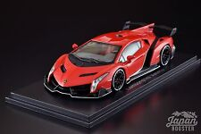[KYOSHO ORIGINAL 1/43] Lamborghini Veneno Red Peal/White Line Red KS05571RPW