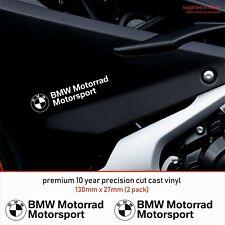 BMW MOTORSPORT MOTORRAD 10 Year Cast Vinyl Decals Stickers x 2-Premium Quality