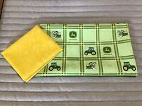 Two Assorted Fat Quarters - Quilt Quality Fabric - John Deere - Farm