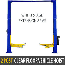 New 4 Ton Clear Floor 2 Post Vehicle Hoist Commercial Car Garage Vehicle Lift