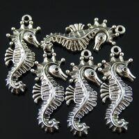 20PCS Antiqued Silver Vintage Alloy Delicate Sea  Horse Pendant Charms 38313