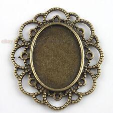 12x Retro Antique Bronze Tone Photo Frame Charms Pendants Findings Fit Crafts J