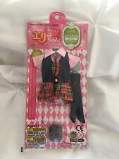 New Japan Pullip Blythe Licca Elly 9'' Doll Cute School Uniform Dress