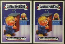 2016 Garbage Pail Kids SUPER TUESDAY 1a Distressed Donald 1b Terrified Trump GPK