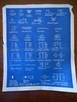 Antique Electrical Blue Print Diagram early 1900's ? Technical School Scientific