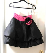 Vintage Betsey Johnson Evening Black and Pink Puff Skirt