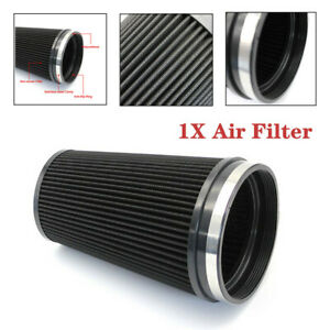 6inch Car Truck Short Performance High Flow Cold Air Intake Cone Dry Filter Part
