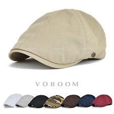 VOBOOM Baumwolle Schiebermütze Gatsby Cap Barett Hüte Newsboy Cabbie Flatcap
