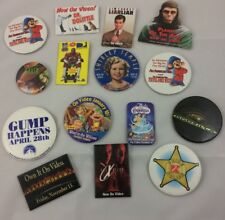 Lot of Vintage Movie Promotional Buttons Disney X-Files Forest Gump Fievel Mask