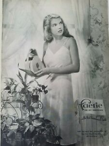 1948 Faerie Silk Mills knit women's lingerie slip vintage fashion ad
