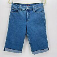 NYDJ Cuffed Bermuda Denim Jean Shorts Womens 4