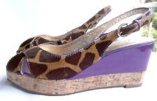 Sandalette mit Keilabsatz und Plateausohle von Dumond, Materialmix GR 37 NEU