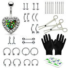 BodyJ4You 36PCS Professional Piercing Kit Steel 14G 16G Belly Ring Tongue Tragus