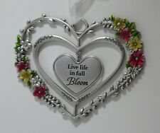 zzz Live life in full bloom Blooming Lovely 3d Heart Ornament ganz