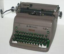Vintage Royal Manual Typewriter HH Series, MCM 1952 1953, HHP-578418 Green Keys