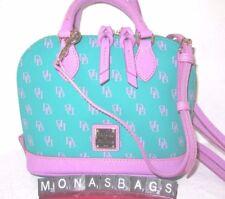 Dooney & Bourke Spearmint Lavender Signature Gretta Bitsy Satchel Bag NWT $178