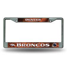 Denver Broncos Authentic Metal Chrome License Plate Frame Auto Truck Car NFL NWT