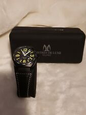 Montres De Luxe Men's AVI-40-QZ-N/G-C Avio Black Quartz Black Dial Watch