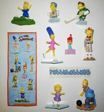 SERIE COMPLETA THE SIMPSONS (UN154 - UN161) + 8 BPZ KINDER SORPRESA 2010