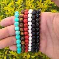 Mens Womens Spot Fashion 8mm Natural Round Gemstone Beads Stretchable Bracelets
