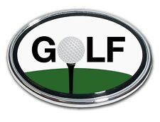 "Golf Ball ""O"" Color and Chrome Car Truck Emblem Quality Made in the USA *NEW*"