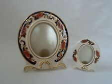 2 x Mason's Ironstone Blue Mandalay Picture Frames - Hand Painted.
