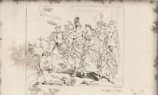 1835 Engraved Artwork Flight Of Helen   ~ W Angus/Guido