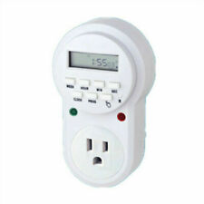 New Programmable Timer Switch Plug Turnover Number 110v 125v 60hz 15a 1875w