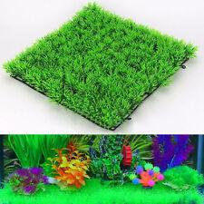Artificial Fake Green Grass Lawn Fish Tank Ornament Plant Aquarium Landscape New