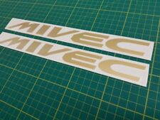 Mitsubishi Mivec FTO lancer colt mirage decals stickers replacement any colour